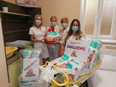 Komárňanská nemocnica dostala stovky plienok